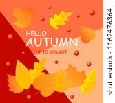 autumn sale background layout... | Shutterstock .eps vector #1162476364