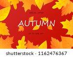 autumn sale background layout... | Shutterstock .eps vector #1162476367