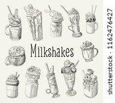 milkshake and ice cream hand... | Shutterstock .eps vector #1162476427