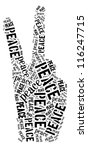 Peace Sign In Word Collage