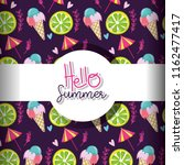 hello summer background | Shutterstock .eps vector #1162477417