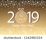 happy new year 2019 greeting... | Shutterstock .eps vector #1162481314