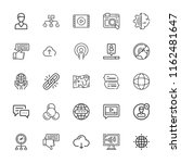 collection of 25 network... | Shutterstock .eps vector #1162481647