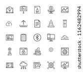 collection of 25 data outline... | Shutterstock .eps vector #1162482994