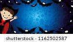 halloween banner with a vampire ... | Shutterstock .eps vector #1162502587