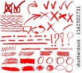 hand drawn highlighter marker's ... | Shutterstock .eps vector #1162502731