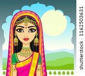 asian beauty. animation... | Shutterstock .eps vector #1162503631