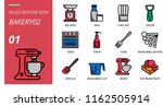 filled outline style icon pack... | Shutterstock .eps vector #1162505914