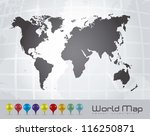 illustration of world map with... | Shutterstock .eps vector #116250871
