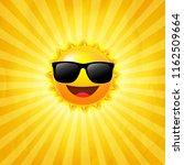 yellow sunburst background with ...   Shutterstock . vector #1162509664