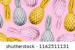 pineapple. 3d rendering.... | Shutterstock . vector #1162511131