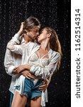 portrait of seductive couple... | Shutterstock . vector #1162514314