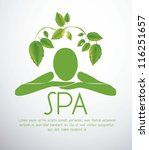 illustration of spa icon ... | Shutterstock .eps vector #116251657