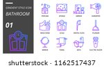 gradient style icon pack for... | Shutterstock .eps vector #1162517437