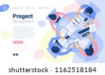 flat design  web page template... | Shutterstock .eps vector #1162518184