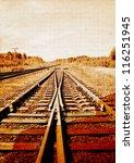 railway on grunge background | Shutterstock . vector #116251945