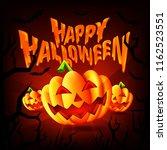 happy halloween party... | Shutterstock .eps vector #1162523551