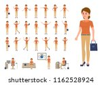 business woman in casual office ...   Shutterstock .eps vector #1162528924