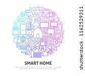smart home circle concept.... | Shutterstock .eps vector #1162529311