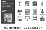 outline style icon pack for... | Shutterstock .eps vector #1162536577