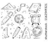 back to school handraw doodle... | Shutterstock .eps vector #1162549321