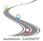 winding road timeline concept | Shutterstock . vector #1162550797
