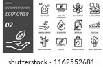 outline style icon pack for... | Shutterstock .eps vector #1162552681