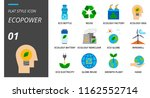 flat style icon pack for... | Shutterstock .eps vector #1162552714