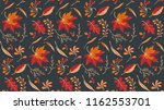 autumn leaves in cartoon style. ... | Shutterstock .eps vector #1162553701