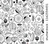 cute flower seamless pattern.... | Shutterstock .eps vector #1162554451