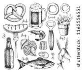 hand drawn oktoberfest pub... | Shutterstock .eps vector #1162556551