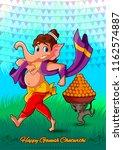 happy ganesh chaturthi festival ... | Shutterstock .eps vector #1162574887