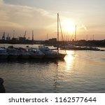 sunset in taranto  apulia  italy   Shutterstock . vector #1162577644