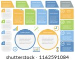 set of assorted infographic... | Shutterstock .eps vector #1162591084