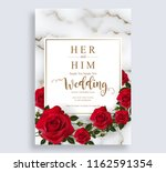 wedding invitation card... | Shutterstock .eps vector #1162591354
