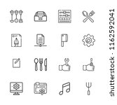 collection of 16 setting... | Shutterstock .eps vector #1162592041
