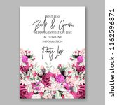 wedding invitation card vector... | Shutterstock .eps vector #1162596871