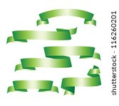 green ribbons set. | Shutterstock .eps vector #116260201