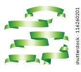 green ribbons set.   Shutterstock .eps vector #116260201