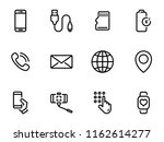 set of black vector icons ... | Shutterstock .eps vector #1162614277