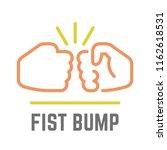 vector color fist bump line...   Shutterstock .eps vector #1162618531