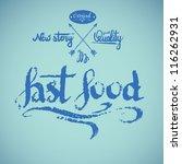 vintage fast food. vector... | Shutterstock .eps vector #116262931