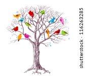 birds christmas tree  joy in...   Shutterstock .eps vector #116263285