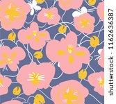 botanical floral seamless... | Shutterstock .eps vector #1162636387