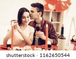 couple romantic dinner at... | Shutterstock . vector #1162650544