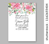 wedding invitation card with...   Shutterstock .eps vector #1162655404
