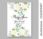 wedding invitation card with... | Shutterstock .eps vector #1162655407