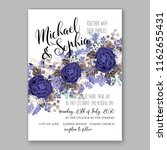 wedding invitation card with...   Shutterstock .eps vector #1162655431