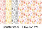 collection of autumn patterns... | Shutterstock .eps vector #1162664491