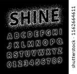 uppercase regular display font...   Shutterstock .eps vector #1162664611